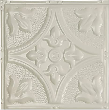 Great Lakes Tin Syracuse Antique White Nail Up Ceiling Tiles 12in X 12in Sample Choose From 11 Styles Perfect For Diy And Home Renovation Projects Easy To Install