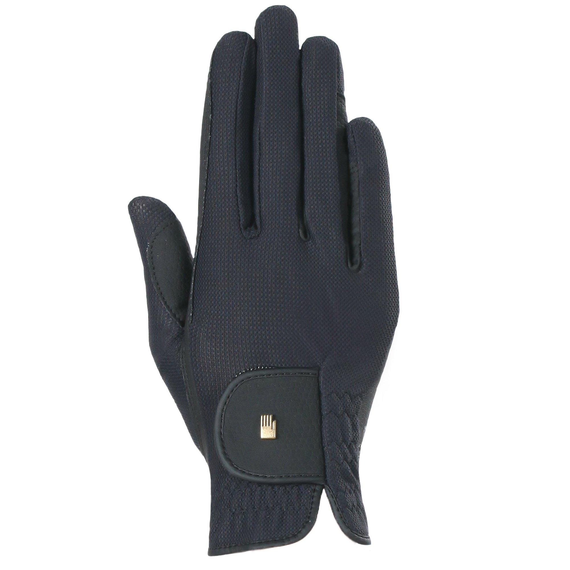Roeckl Summer Chester Mesh Back Riding Glove (Black, 7.5)