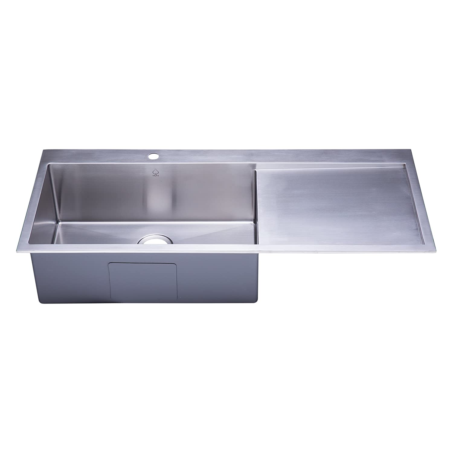 bai 1233 48 handmade stainless steel kitchen sink single bowl