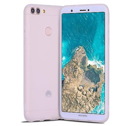 Funda Huawei P Smart, Carcasa Huawei P Smart, Suave Opaco gel Silicona TPU Cover RosyHeart Ultra Fina Flexible Goma Mate Case Tapa Anti-arañazos ...