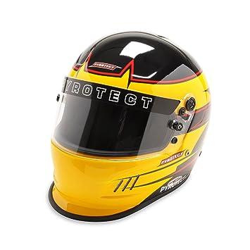 pyrotect sa2015 flujo de aire x Full Face casco Rebel negro/amarillo coche Kart