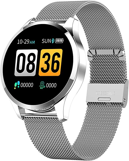 FuriGer Bluetooth SmartWatch,Color Touch Screen Pedometer Heart Rate Monitor Blood Pressure Sleep Monitor Sport Fitness Tracker Sports Modes Pedometer for Android Samsung iOS Phone XS Xr X8 7 6 5