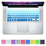 "DHZ® Big Font Sky Blue Gradient Keyboard Cover Silicone Skin for MacBook Air 13"" MacBook Pro 13"" 15"" 17"" (with or w/out Retina Display) and iMac Wireless Keyboard"