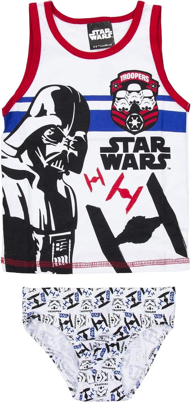 6er Pack Star Wars Jungen Unterhemden Slips Kinder Unterw/äsche Set