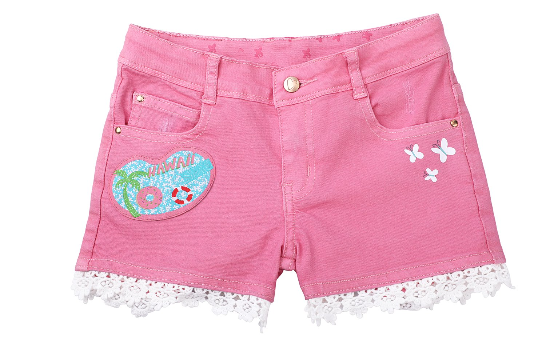 Dolcevida Toddler Girls Shorts Stretch Denim Fashion Twill (6X)