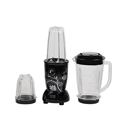 Wonderchef Nutri-Blend 63152293 400-Watt Mixer Grinder with 3 Jars (Black)