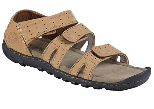 86c21541efc3 Woodland Men s Leather Sandals  Buy Online at Low Prices in India ...
