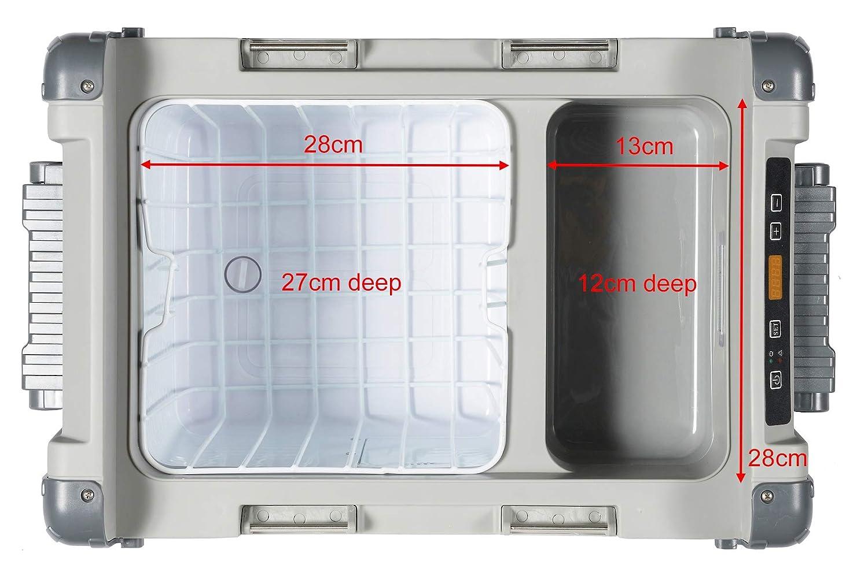 Berg - Nevera-congelador con compresor portátil de Gran tamaño (28 ...