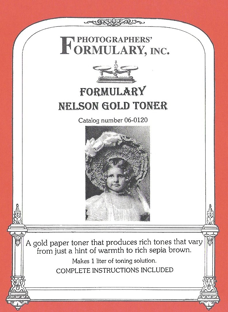 Photographers' Formulary 06-0120 Nelson Gold Toner 1-Liter Photographers' Formulary