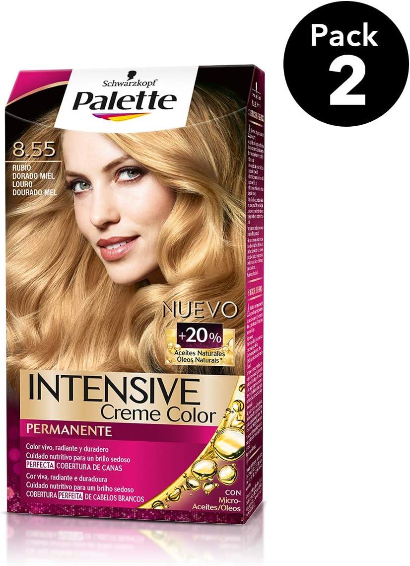 Palette Intense - Tono 8.55 Rubio Dorado Miel- 2 uds ...