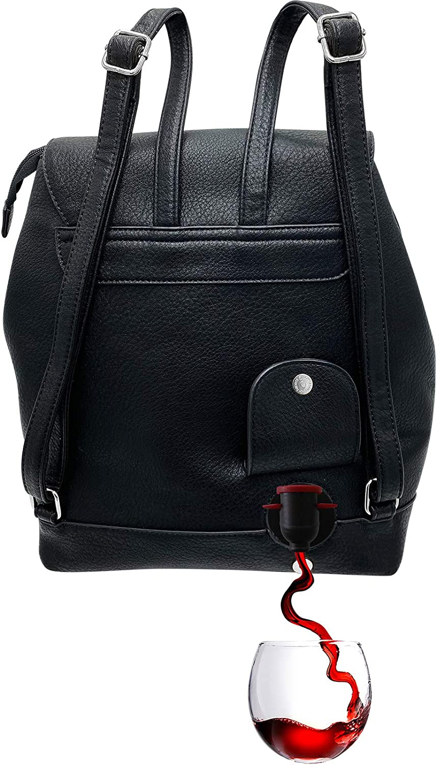 PortoVino Tokyo Backpack - Fashionable Wine Backpack with Hidden, Insulated Compartment, Holds 2 Bottles of Wine! / Great Gift! / Happiness Guaranteed!