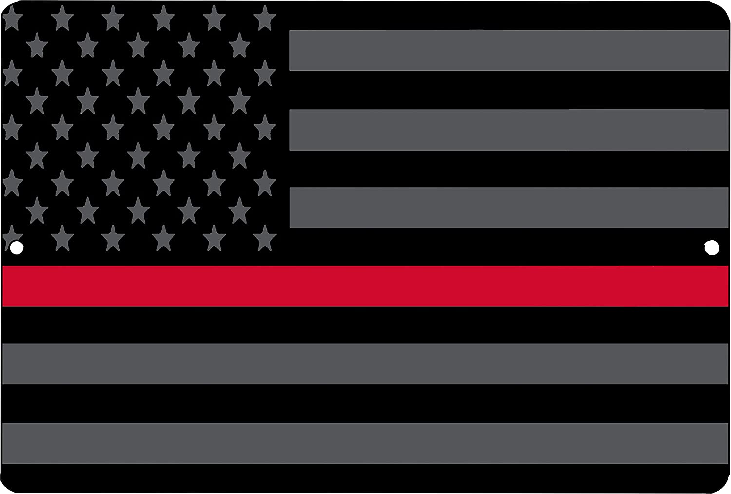 Rogue River Tactical Thin Red Line Firefighter Flag Metal Tin Sign Wall Decor Man Cave Bar Support Fire Fighters Subdued