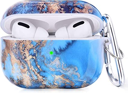 CAGOS Compatible with Airpods Pro Case Cute Airpods Pro Protective Hard Case Cover Portable /& Shockproof Women Girls Men with Keychain//Strap for Apple Airpods 3 Charging Case Ocean
