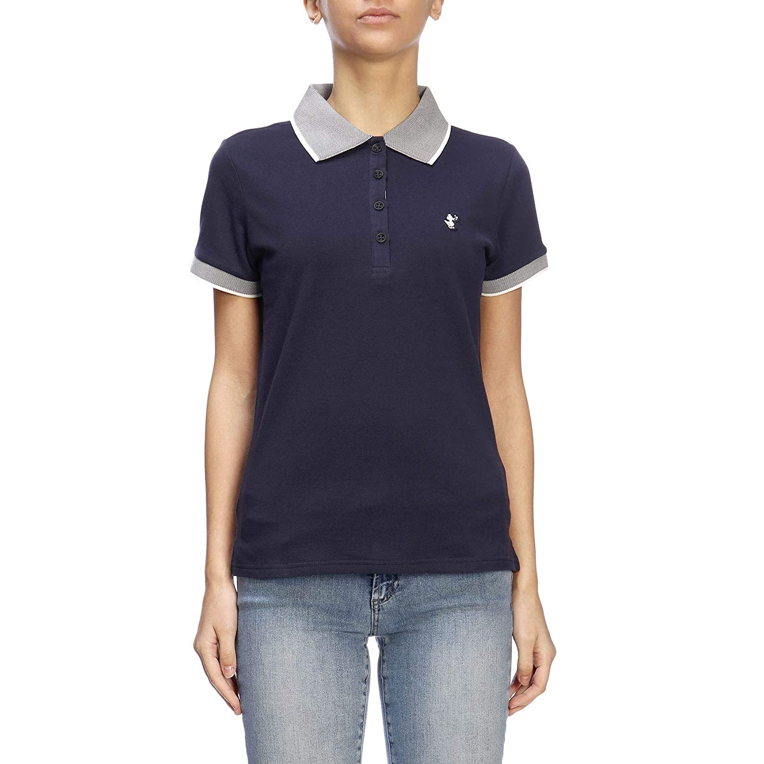 Save The Duck Women's DR140WPIC0800009 bluee Cotton Polo Shirt