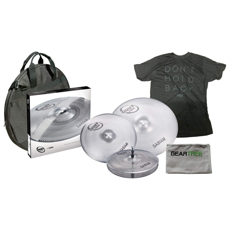 Sabian QTPC503 Quiet Tone Cymbal Pack w/ 14'' Hi Hats, 16'' Crash, 20'' Ride Cym by Sabian