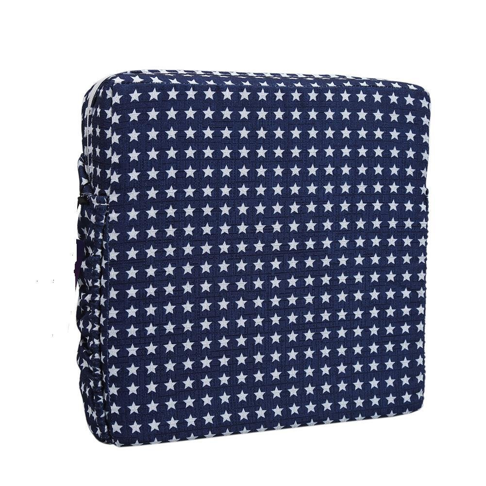 32 8cm Blue Moolila Kids Soft Dining Chair Booster Cushion Mat with Straps Dismountable Highchair Pads 32
