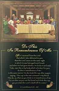 Do This, in Remembrance of Me (Religious - Last Supper) - Johnny Myers 24x36 Unframed - African American Black Art Print Wall Decor Poster #