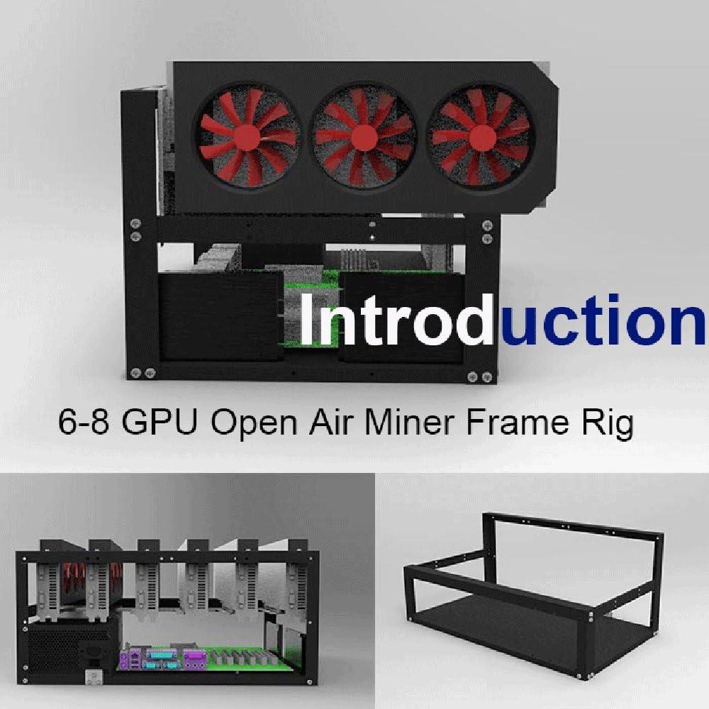 KK moon Steel Coin Open Air Miner Mining Frame Rig Case Up to 8 GPU BTC LTC ETH Ethereum