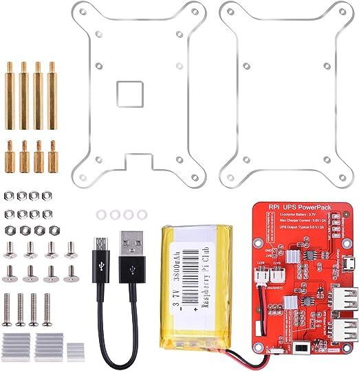 UNIROI Batería para Raspberry Pi, Fuente de Alimentación 3.7V / 3800mAh para RPi 3 2 1 Modelo B B+ y Celular (Nueva Ver.+Caja): Amazon.es: Juguetes y juegos