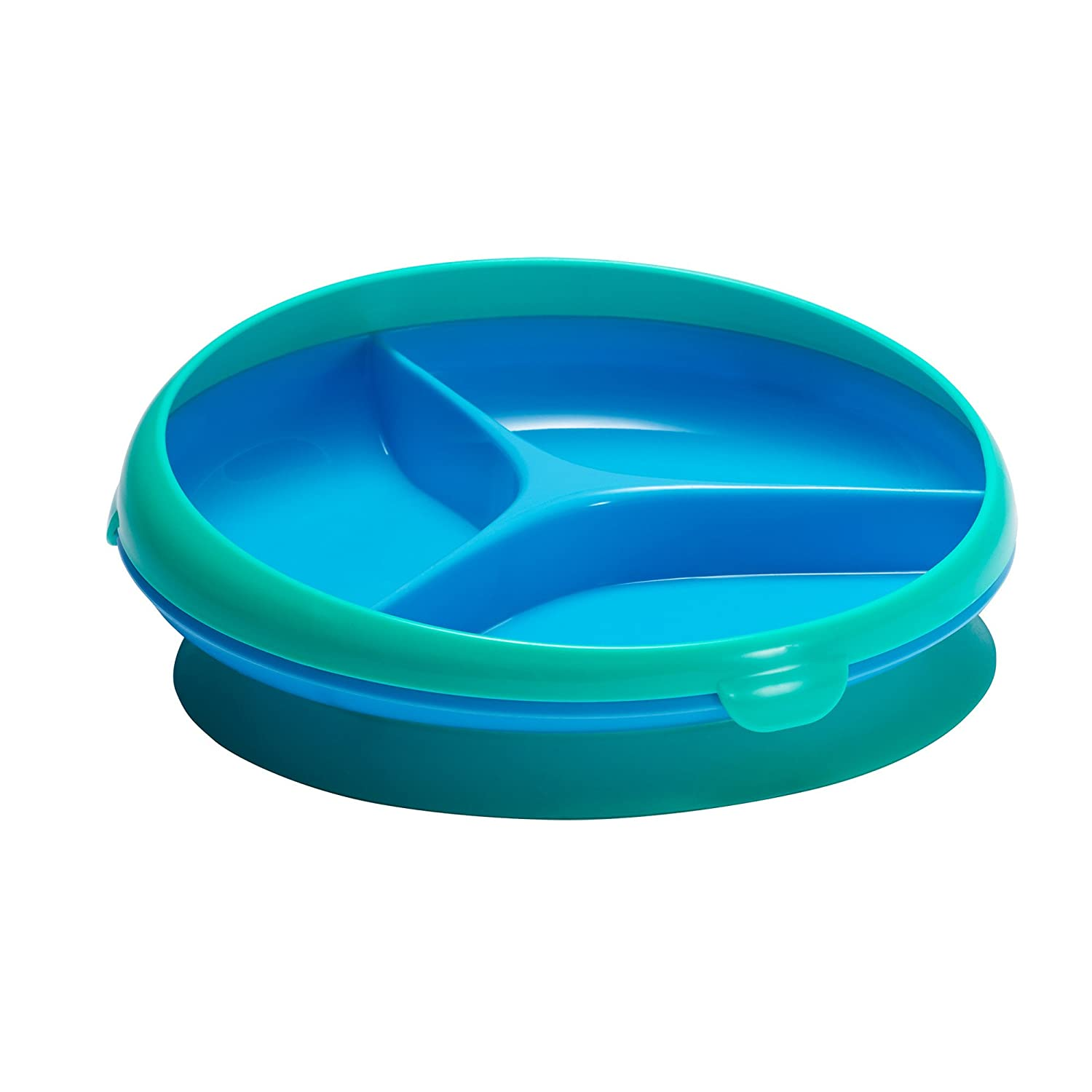 The First Years Inside Scoop Suction Sectioned Plate, Blue/Green Y6269A1