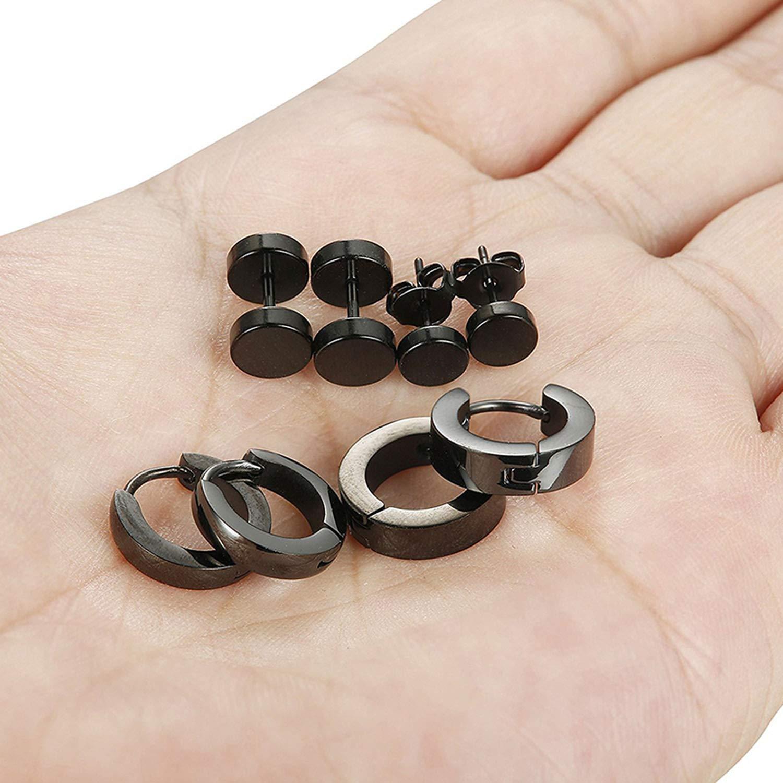 1 Set 4 Pairs Stainless Steel Earring Chic Stud Earrings