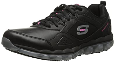 8867570c5c3e Amazon.com  Skechers for Work Skech Air Slip Resistant Lace-Up  Shoes