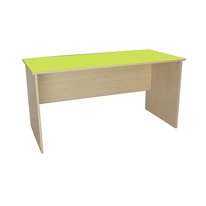 Scrivania Verde Mela.Mobeduc Insegnante Da Scrivania Legno Verde Mela 150 X 75