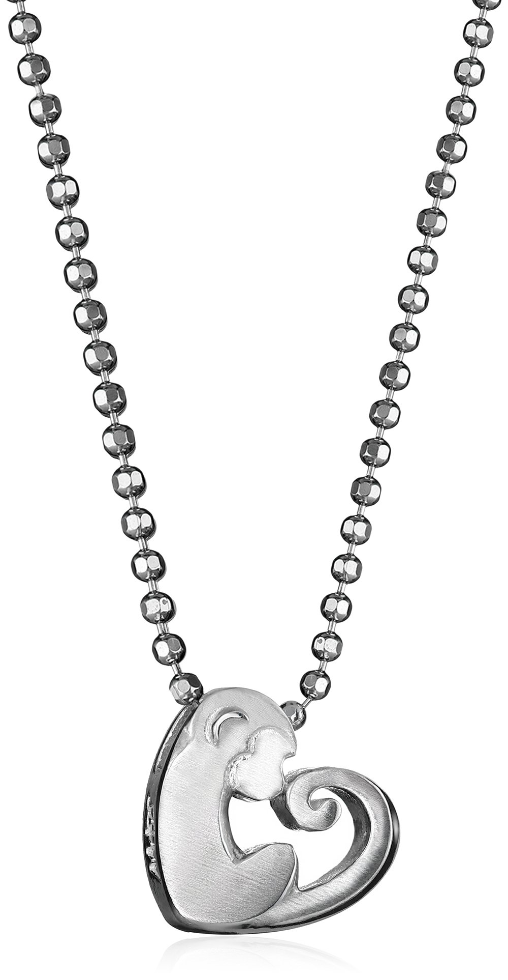 Alex Woo Little Activist Sterling Silver Love Monkey Pendant Necklace
