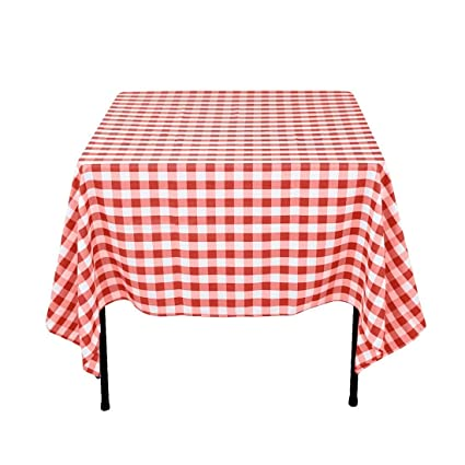 Charming LinenTablecloth 70 Inch Square Tablecloth Red U0026 White Checker