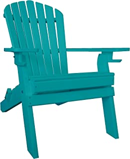 product image for Poly Recycled Plastic Adirondack Chair with Two Cupholder-Aruba Blue
