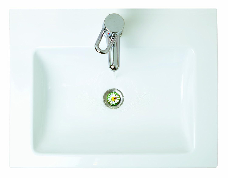 38 Waschbeckenst/öpsel Design M/ärchenschloss 40 mm Excenterstopfen Abfluss-Stopfen aus Metall