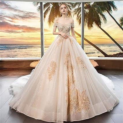 Amazon.com Wedding Dress Bride One Shoulder Fashion Sexy