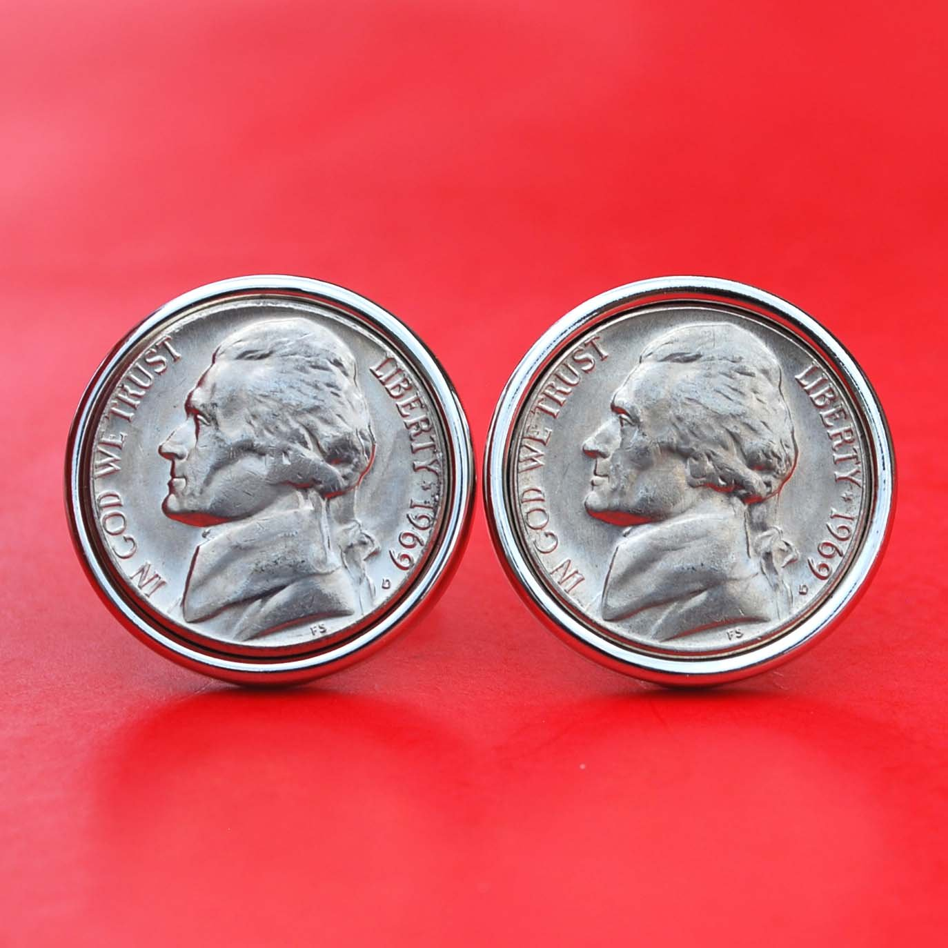 Amazon com: A Pair of US 1969 Jefferson Nickel 5 Cent BU