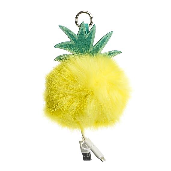 Amazon.com: Piña Pom Llavero De Carga: Cell Phones & Accessories
