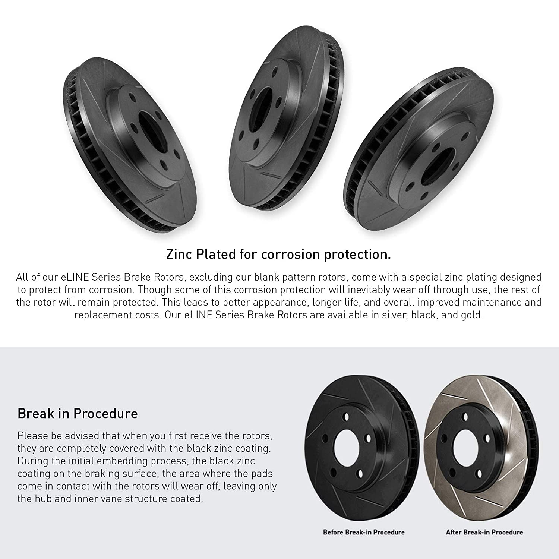eLine Replacement Brake Rotors /& Ceramic Brake Pads FRONT