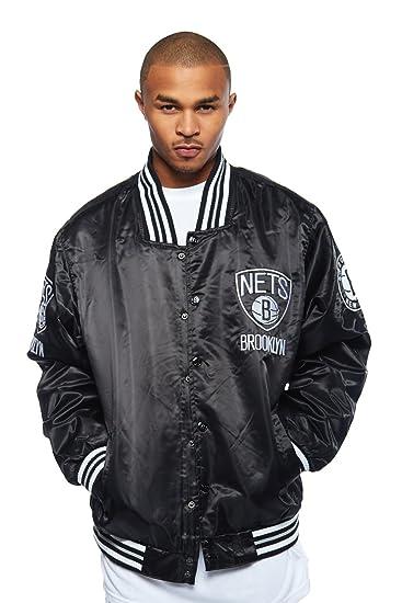 Amazon.com  Mens Official Merchandise NBA NETS Basketball Varsity Jacket NBA   Clothing 02ca26818