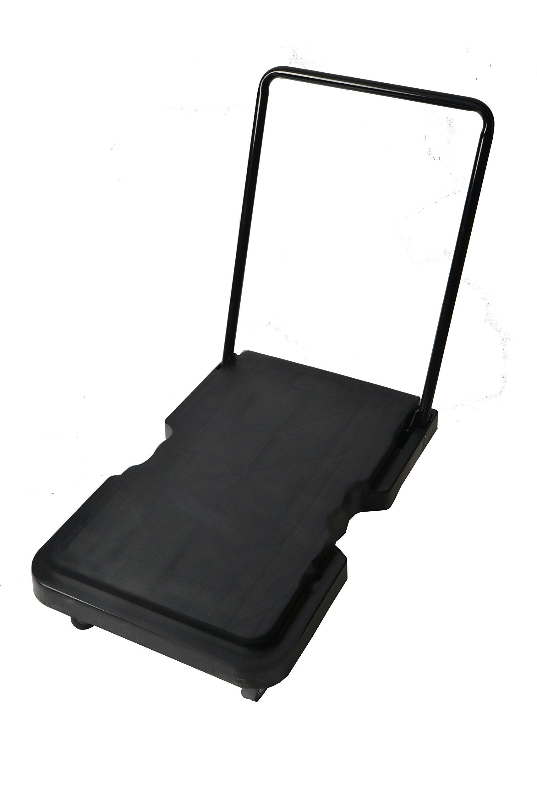 Janico 1059 Folding Platform Cart - Industrial Dolly Foldable Moving Warehouse Push Hand Truck, Black