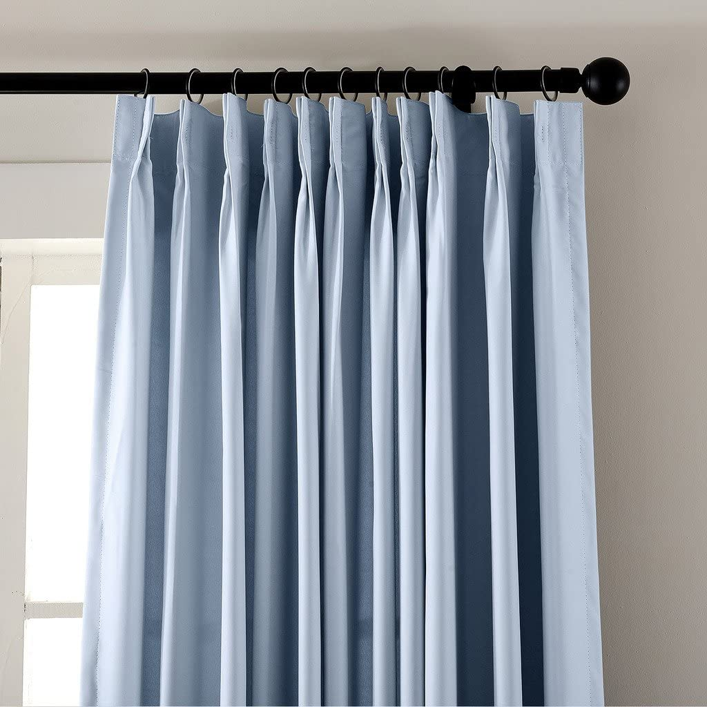 chadmade Pinch Pleat térmica aislante opaco Patio puerta cortina Panel Drape para barra de Traverse y Track, (1 Panel), azul celeste, 90Wx54L: Amazon.es: Jardín