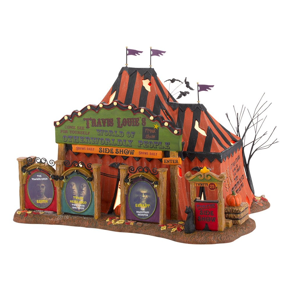 amazoncom department 56 snow village halloween travel louie otherworldly persons lit house 689 inch home kitchen
