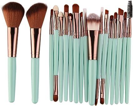 15/18Pcs/Pack herramienta Pinceles Set maquillaje cosmético Eye Shadow Podwer Blush Fundación mezcla belleza Maquillaje Brocha Maquiagem LC 5444: Amazon.es: Belleza