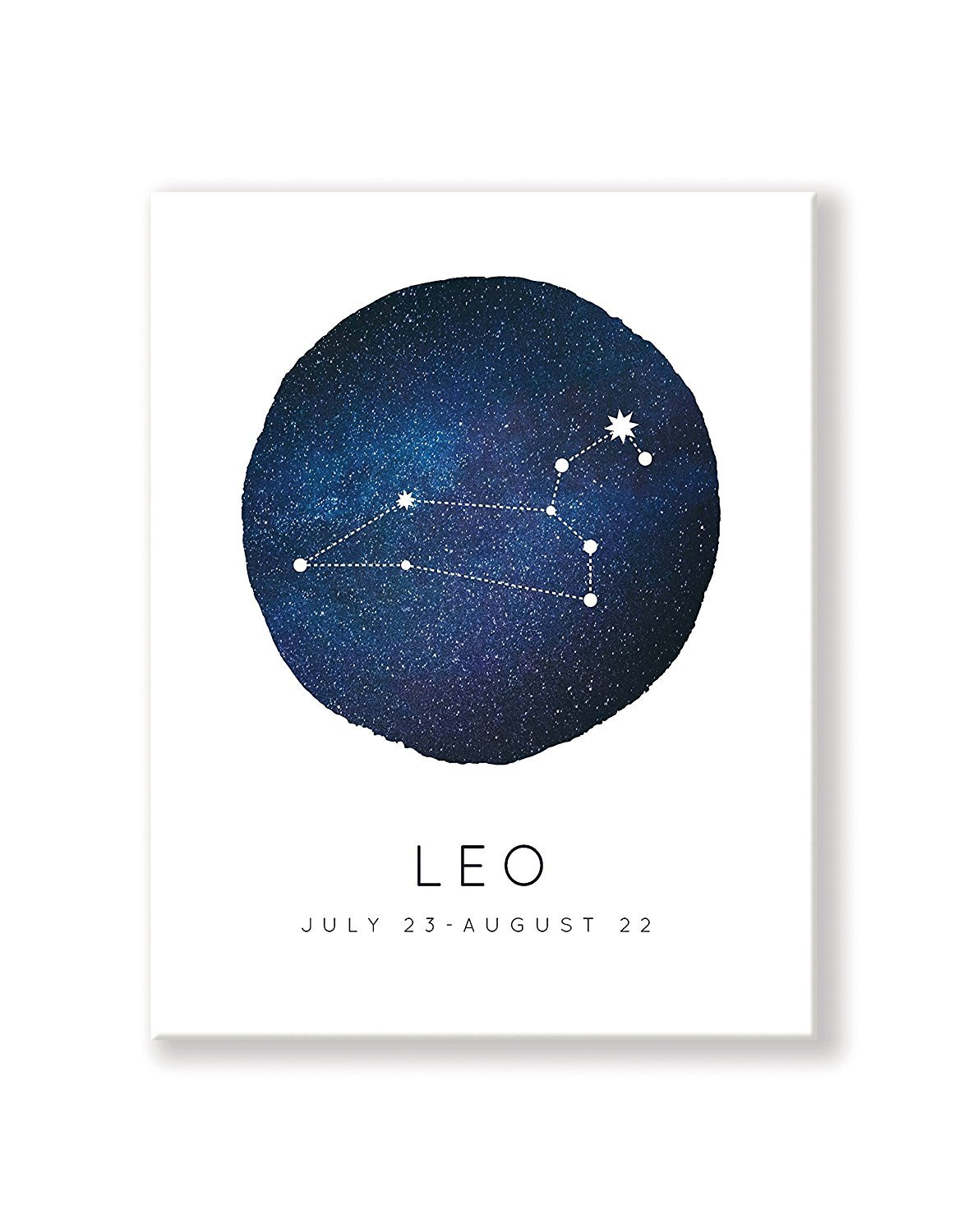 """Kindred Sol Leo Zodiac Constellation Art 14"""" x 11"""" - Minimalist & Dreamy Astrology Print - Perfect Horoscope Print for Nursery Decor, Bedrooms, Playrooms, Classrooms, and Gifts"""