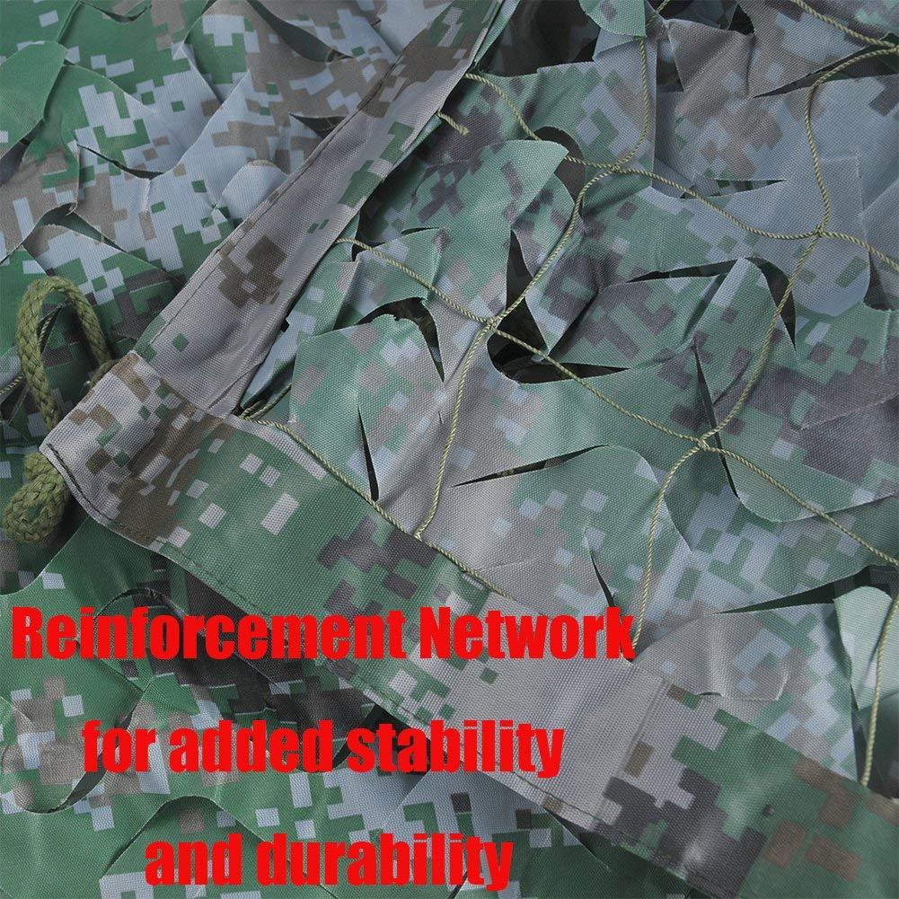 Rete Rete Rete mimetica dell'esercito, aggiunta rete di rinforzo, adatta per nascondigli militari, veicoli di copertura e terreni di caccia decorativi (diverse misure disponibili, Coloreeee camo digitale bosco)   Eccellente valore    Fornitura sufficiente  3f6d13