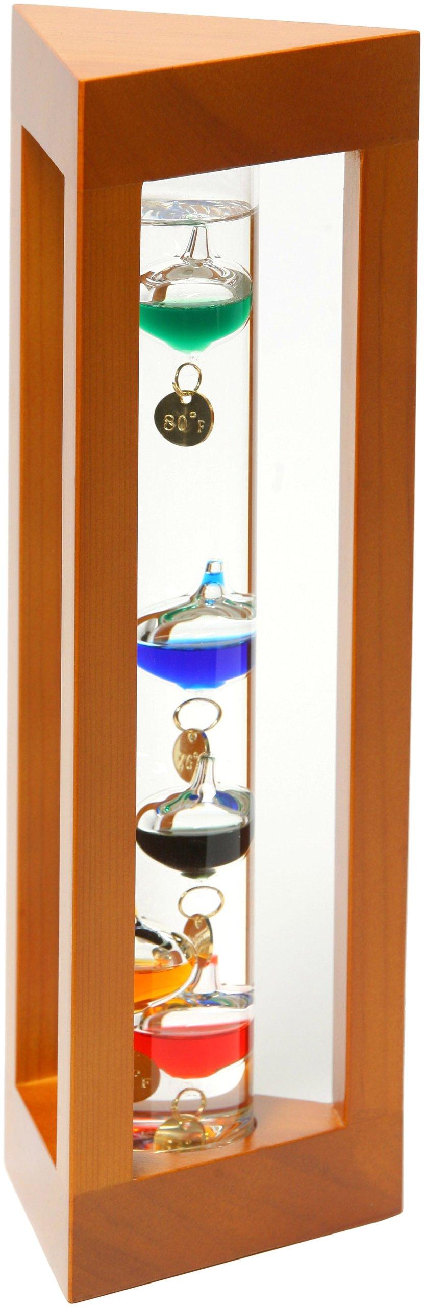 G.W. Schleidt YG527-N Galileo Thermometer Triangle Stand 12-Inch Multicolored by G W Schleidt