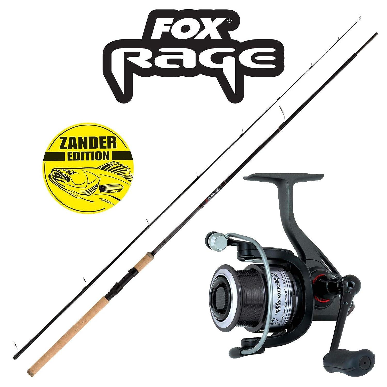 10-30g Fox Rage Rolle /& Rute 2,70m Fox Rage Profi Zander Angelset Combo