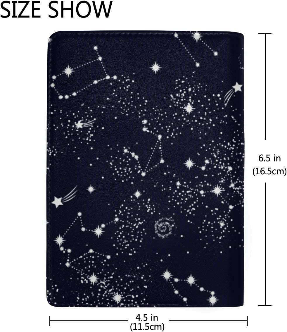 Passport Leather Case All Twelve Zodiac Signs In The Constellation Stylish Pu Leather Travel Accessories Canvas Passport Cover For Women Men