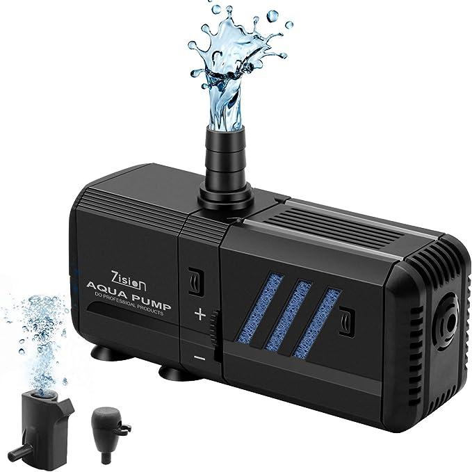 3 in 1 Aquarium Filter Oxygen Air Pump Submersible Fish Tank Water Pump Tools WP-3300A Rockyin Aquarium Filter Pump
