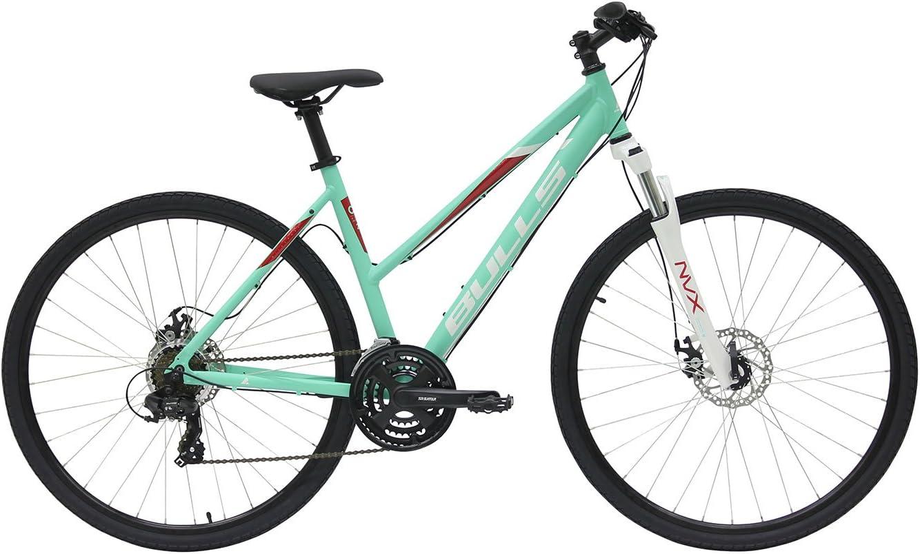 Bulls Mujer Mountain Bike 28 pulgadas verde – Bicicleta Wild Cross – Shimano 21 marchas, color lucite green matt, tamaño 44 cm, tamaño de rueda 28.00 inches: Amazon.es: Deportes y aire libre
