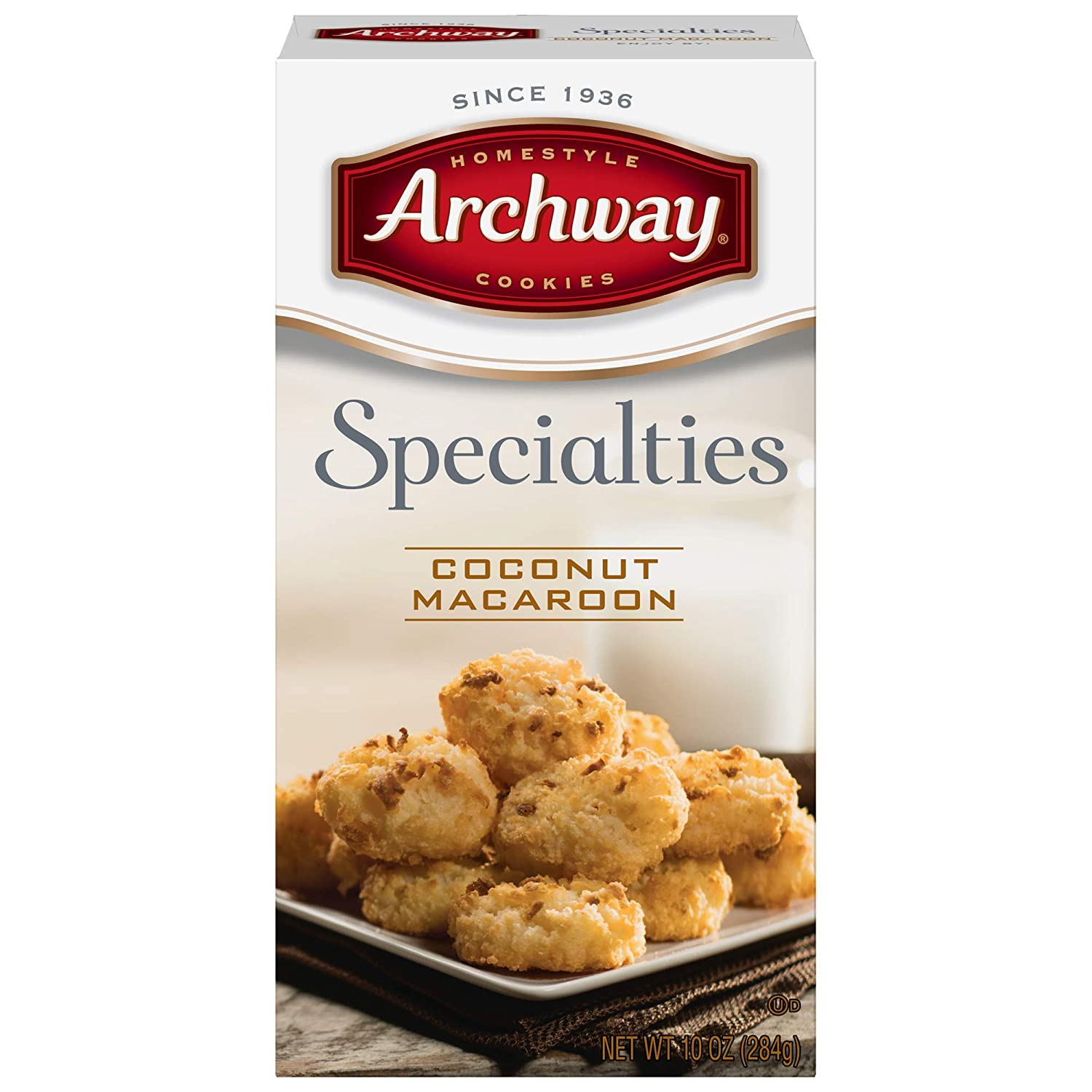 Archway Coconut Macaroons 10oz Box Pack Of 3 Amazon Com Grocery Gourmet Food