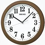 セイコークロック 電波掛時計 コンパクトサイズ プラスチック枠(茶メタリック塗装) KX379B