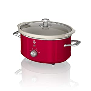 Swan SF17021RN 3.5L Blue Slow Cooker Red